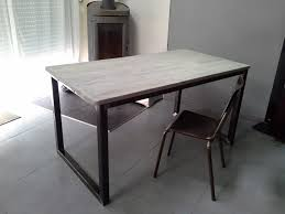 Grande Table Industrielle by Indogate Com Meuble De Salle A Manger Gris