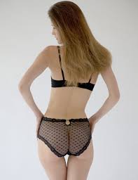 chase the ace luxury designer black lace high waisted knickers
