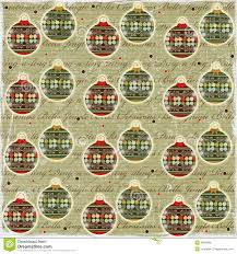 vintage christmas paper christmas balls vintage style paper stock illustration
