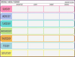 weekly workout schedule template cvsampleform within weekly