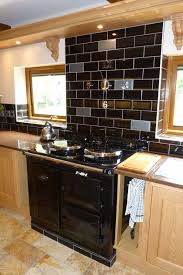 kitchen white cabinets black appliances subway tile kitchen new