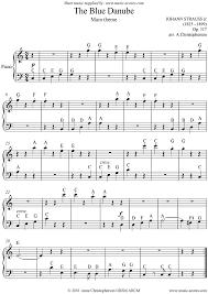 the blue danube easy piano sheet music by johann jr strauss piano