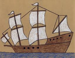 draw a mayflower ship projects for