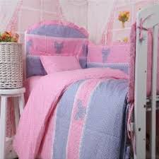 Crib Bedding Pattern Soft Crib Bedding Set Lovely Bow Knot Pattern Child Baby Bumper