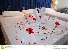 Romantic Bedroom Ideas With Rose Petals Romantic Setting With Rose Petals On Bed Stock Photo Image 69676836