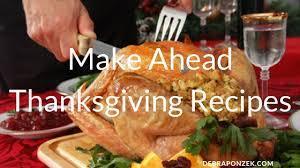 make ahead thanksgiving recipes chef debra ponzek aux delices