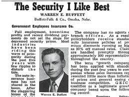 quote from warren buffett warren buffett u0027s 1951 geico recommendation business insider
