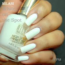 preciouspearlmakeup milani nail lacquer white on the spot