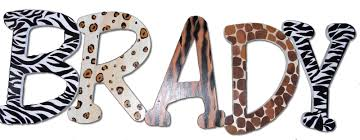 name letter pattern wild animal print name letters