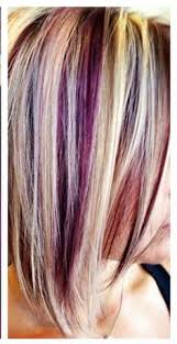 short hairstyles with peekaboo purple layer peek a boo raspberry underneath pearl blonde highlights crazy