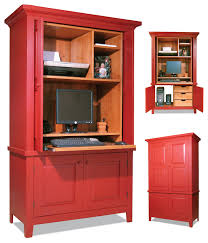Small Computer Cabinet Modern Black Cherry Wood Computer Desk Cabinet Designed With