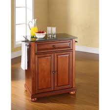 crosley furniture kitchen cart alexandria black granite top kitchen cart cherry kf30024ach