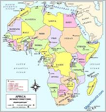 africa map countries and capitals africa political map africa