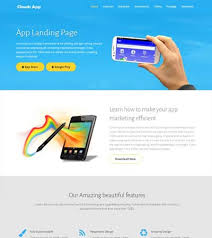 clouds html5 multipurpose landing page template