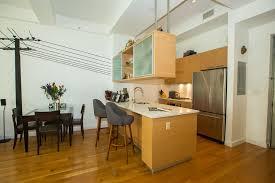modern kitchen with undermount sink u0026 breakfast bar in brooklyn