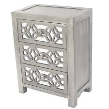 3 drawer accent table willa arlo interiors hubert mirrored 3 drawer accent chest reviews