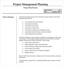sample project summary template project summary document template