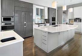 Kitchen Cabinets Modern Kitchen Contemporary Modern Kitchen In Gray Cabinets Ideas Grey