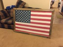 Wooden American Flag Wall Hanging Full Size Flag Frame How To Or Large Picture Frame Youtube