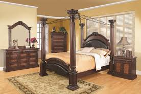 buy grand prado king poster bed w upholstered panels by coaster