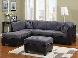 Cheap Black Leather Sectional Sofas Black And Gray Family Room Ideas Grey Fabric And Black