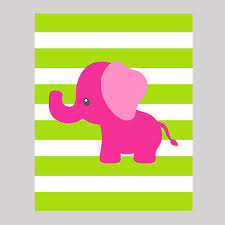 Pink Elephant Nursery Decor Shop Baby Elephant Nursery On Wanelo