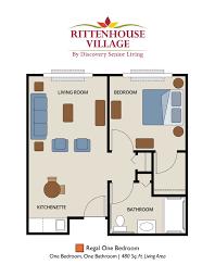 senior living floor plans rittenhouse village at portage