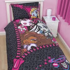 monster high bedroom sets 18 extraordinary monster high bedding set kids snapshot idea