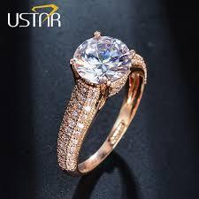 color wedding rings images Ustar 1 25ct 7mm aaa zircon wedding rings for women jewelry rose jpg