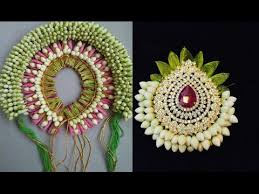 flower decoration for hair veni gajra fresh flower bridal hair accessories
