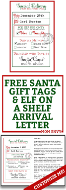 printable elf on the shelf arrival letter free custom santa gift tags and elf arrival letter 3 free printables
