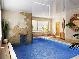 elegant modern holiday cottage with pool home and interior