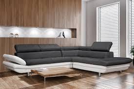 canapé gris et blanc pas cher canapé d angle convertible 5 places pas cher idées de décoration