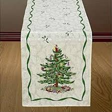 avanti spode tree table runner 14 by 72 inch ivory