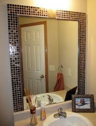 Diy Bathroom Mirror by Diy Bathroom Mirror Frame Tile Interior Design Ideas