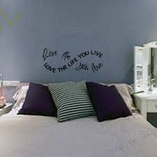 popular wall decals quotes buy cheap lots from free shipping wall stickers home decor love the life you live bob marley vinyl