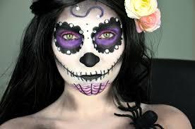 Sugar Skull Halloween Makeup Tutorial by Sugar Skull Make Up Tutorial Halloween Youtube