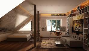 Bedroom Contemporary Decorating Ideas - bedroom contemporary slanted ceiling decorating ideas attic