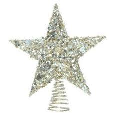 silver sequin glitter tree topper polyvore