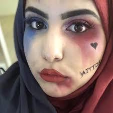 Harley Quinn Halloween Costume Hijab Harley Quinn Costume Halloween Makeup Popsugar Beauty