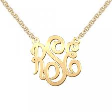 monogram necklace pendant elegance style monogram necklace build a