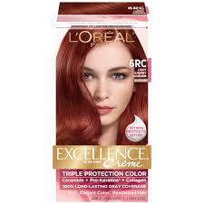 rich cherry hair colour l oreal 6rc warmer light cherry auburn hair color 1 kt box beauty