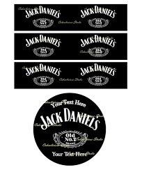 personalised jack daniels edible icing sheet cake topper set