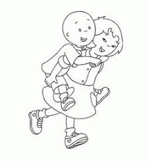 free printable caillou coloring pages kids color pages