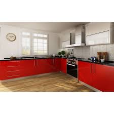 High Gloss Paint For Kitchen Cabinets Creamy White Red Painting Kitchen Cabinets Laminate Finish High Gloss