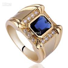 ring men 2017 mens 4 claw oblong blue sapphire sterling 925 silver ring