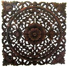square wood carving wall teak lotus carved wall panels thai teakwood