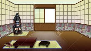 Traditional Japanese Interior by Traditional Japanese Room Interior Digital Painting Background
