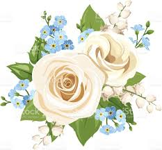 white and blue flowers white and blue flowers vector illustration stock vector more
