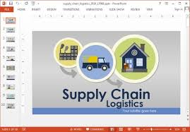 supply chain presentation template free value chain powerpoint
